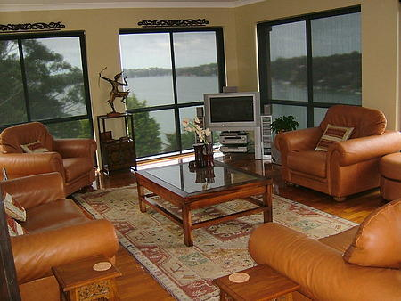 Living room overlooking Georges River