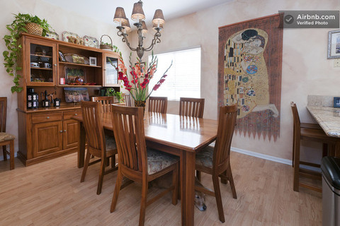 Dining Room: Hand made furniture from New Zealand made to our specifications.