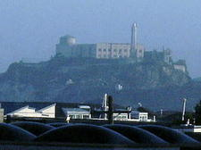 View of Alcatraz from dining area