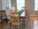 Dining area: Open to the living room and kitchen, the dining area is comfortable for six (or more if you really like each other).