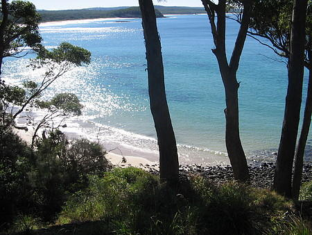 Narrawallee Bay (the 'Scramble'): Just outside the front door, through the trees!