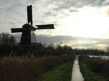 The Zaagmolen, at the Spaarne river, close to our house