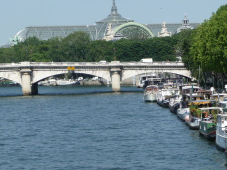 champs Elysees harbour: the bridge la concorde and the grand palais is one of the view from the houseboat