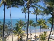 View from our balcony of Palm Cove beach