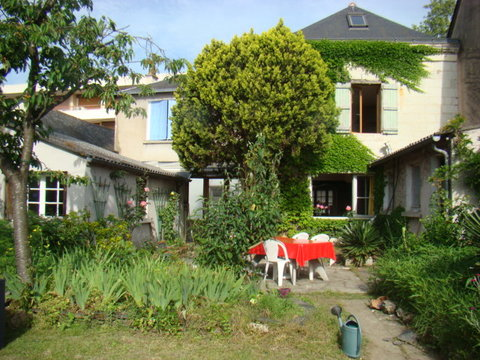 notre maison, vue du jardin / our house, from the garden