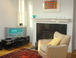 Living Room: HDTV, gas fireplace