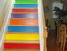 Stairway to Roof Deck: Painted in a minimalist style a la Sol Lewitt