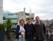 the vacationers! My two sons and I on top of the BBC central London, my workplace.