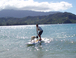 Surfing the Bay: There are always waves with a stand up paddle board. The board is very floaty and you use a paddle to get around. Needless to say, it can catch anything.